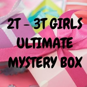 25 Items, 2T/3T Girls Mystery Box, Play Clothes